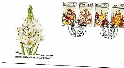 R.S.A.,,, 1985 FLOWERS,, on very fine  illustrated FDC