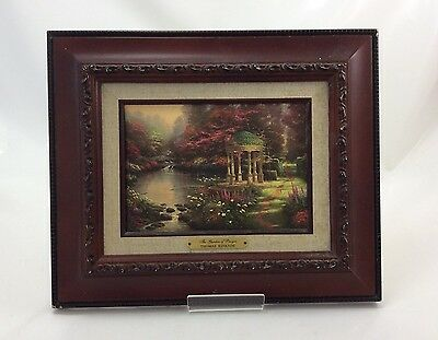 Thomas Kinkade Painting - Garden of Prayer Accent Print in frame