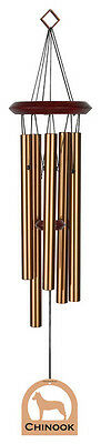 "Chinook Dog Theme Wind Chime 6 Note 27"" Bronze New [GS]"