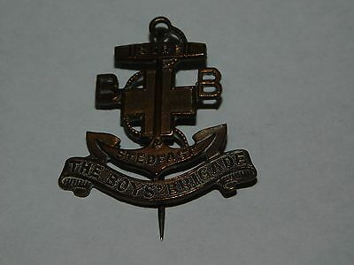 "Vintage Copper Pin ""the Boys Brigade Sure & Stedfast"""