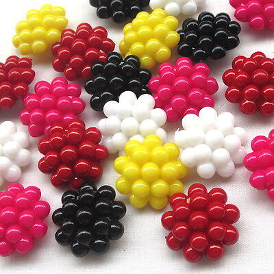 New 20/100pcs Plastic Buttons Bubble 25mm Sewing Craft