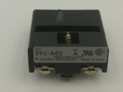 Allen Bradley 595-A02 Series A  Contact For Overload Relay
