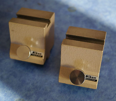 Nikon Measurescope (Industrial Measuring Microscope) Pair V-Block Raising Blocks