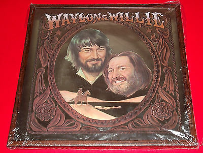 org 1978 WAYLON JENNINGS WILLIE NELSON RCA promotional MIRROR wall decor SEALED