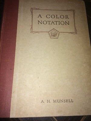 A Color Notation A.H.Munsell. 1926 Hardcover Book 7Th Edition