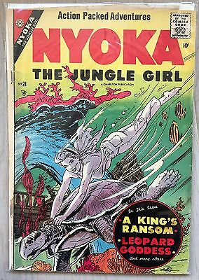 NYOKA THE JUNGLE GIRL 21 G (CHARLTON 1957, INTROUVABLE GOLDEN age)