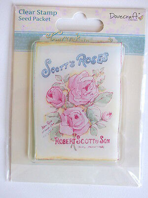 DOVECRAFT FORGET ME NOT CLEAR STAMPS - SEED PACKET gardening