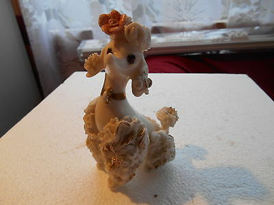 Vintage 1950S Continental Unbranded White Spaghetti Poodle M54