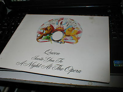 Queen A Night At The Opera Very Rare Original 1975 Tour Programme Official