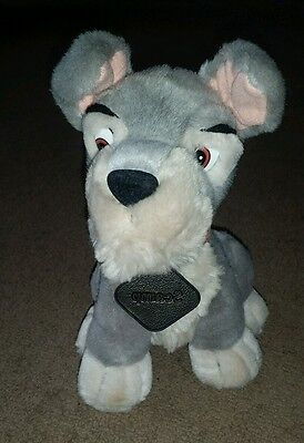 """Rare Official Walt Disney World 8"""" Scamp Lady and the Tramp 2 Plush Toy VGC"""