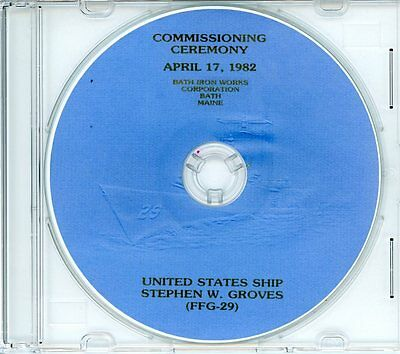 USS Stephen W Groves FFG 29 Commissioning Program 1982 on CD Navy Plank Owners