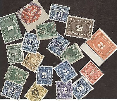 Revenue Stamps Canada , lot of 19 various used stamps.