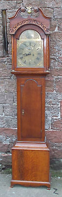 ANTIQUE Grandfather LONGCASE CLOCK In OAK Case WITH Brass DIAL Anderson DUNSE