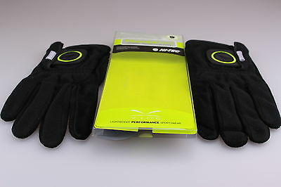 Men's Hi Tec Therma Feel Suede Cabretta Leather Golf Gloves 1 Pair Black/Lime L