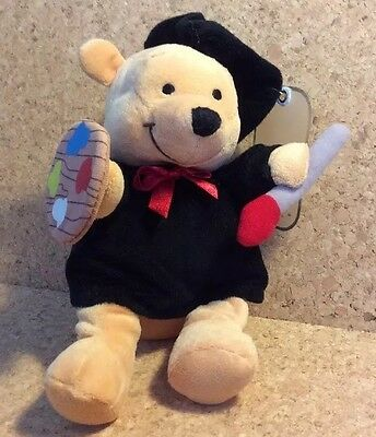 New Walt Disney Co Exclusive Limited Edition Pooh As Artist Beanie Soft Toy