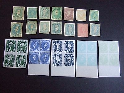 USA CONFEDERATE STAMP ISSUES of 1861 - 1863, MINT FACSIMILIES