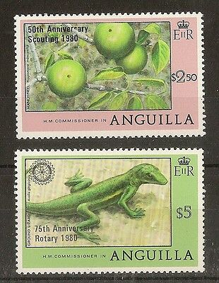 Anguilla 1980 Scouting & Rotary SG405-406 MNH