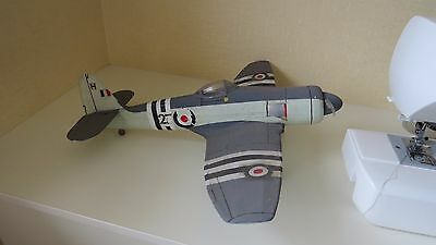 large light raf prop model aircraft wire ww2 sea fury aircraft carrier plane