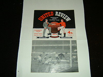 1956-57 Manchester United v Luton Town First Division
