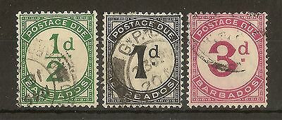 Barbados 1934 Dues D1-D3 Fine Used c£32