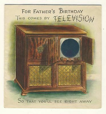 Early television, novelty greetings card, Raphael Tuck