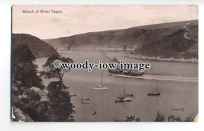tq0604 - Devon - Paddlesteamer & Yachts, at the Mouth of  River Yealm - Postcard