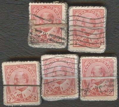 Stamp Canada # 90, 2¢, 1903, lot of 500 used stamps.