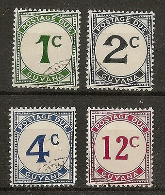 Br Guiana 1973 Dues SG.D8-D11 Fine Used
