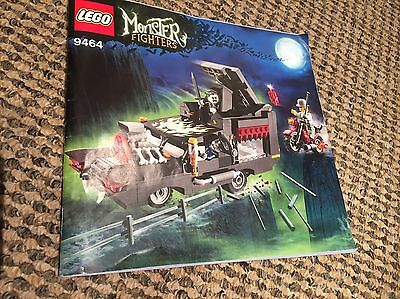 Lego Monster Fighters 9464 instruction booklet only, VGC