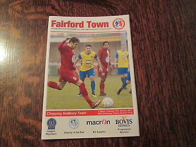 FAIRFORD TOWN v CHIPPING SODBURY TOWN [GFA CHALLENGE TROPHY] 10TH JANUARY 2017