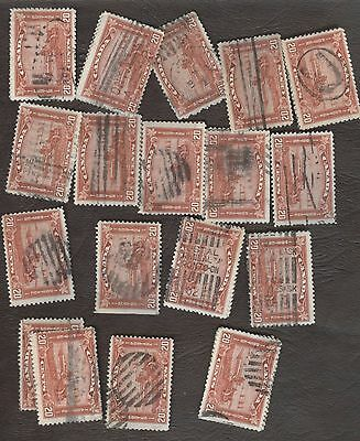 Stamp Canada # 175, 20¢, 1930, lot of 29 used stamps.