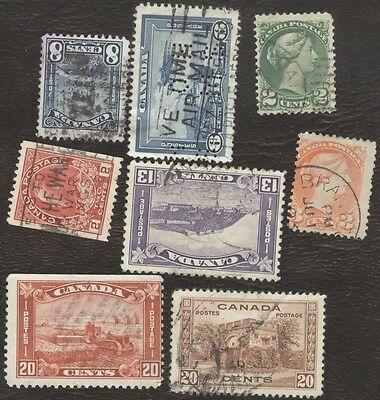 Stamps Canada  lot of 8 various used stamps.
