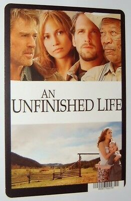 An Unfinished Life movie backer card - Jennifer Lopez  - (this is not a movie)