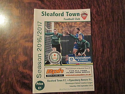 SLEAFORD TOWN v EYNESBURY ROVERS 24TH SEPTEMBER 2016