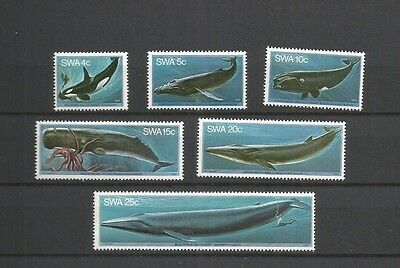 South West Africa-Whales Scott 437-42 Mnh Scv $7