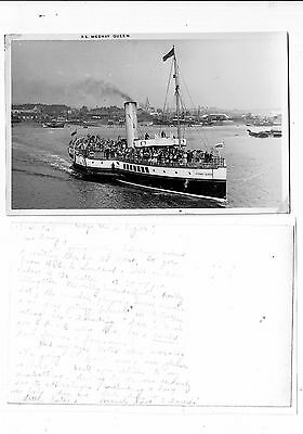 Post Card Real Photo A Plain Backed Card Of The P.s. Medway Queen