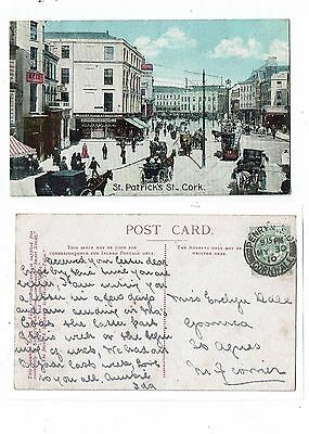 Post Card Early Printed St. Patrick`s St,, Cork