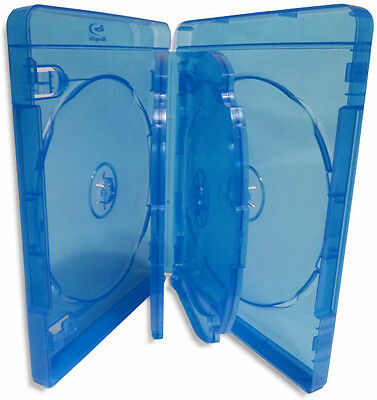 20-Pak 6-DISC 22mm Blu-ray Case with Two Swinging Trays & Silver Blu-ray Logo