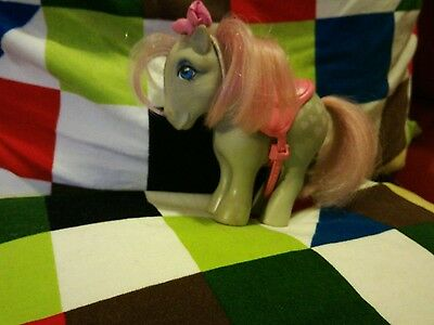Vintage My Little Pony Hasbro Snuzzle G1 1982 Hearts Cutie Marks Pink Hair