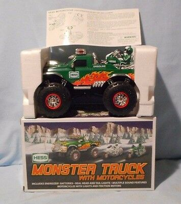 HESS TRUCK 2007 MONSTER TRUCK AND MOTORCYCLES  Mint In Box