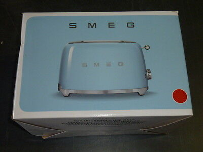 SMEG Retro Style Toaster 2 Slice RED COLOR TSF01FAST New in the Box