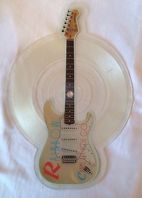 "Rainbow 45 Rpm 7"" Guitar Shaped Picture Disc All Night Long Can't Let You Go"
