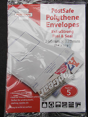 POSTSAFE Extra Strong Envelope 240mm x 320mm (Pack of 5).