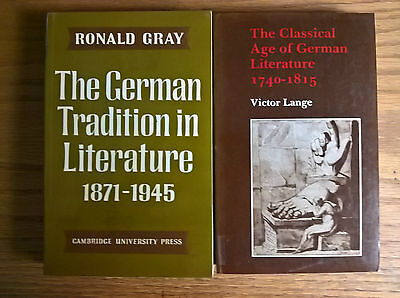 2 books Lange Classical Age German Literature + Gray German Tradition