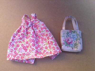 Pretty Pippa doll clothes summer dress with matching handbag