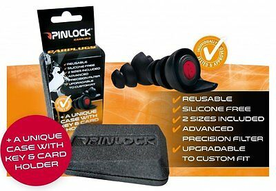 Pinlock Hearing Protectors Motorcycle Ear Plugs Silicone Free Re-Useable Bike