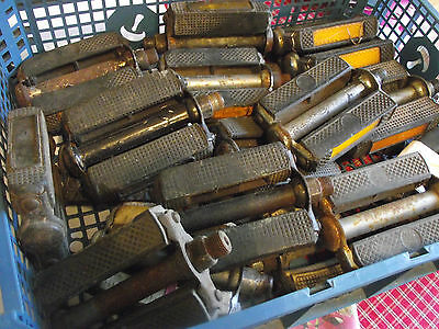 Lot of Union/Raleigh Rubber Pedals for Spares or Repair, Vintage Bicycle