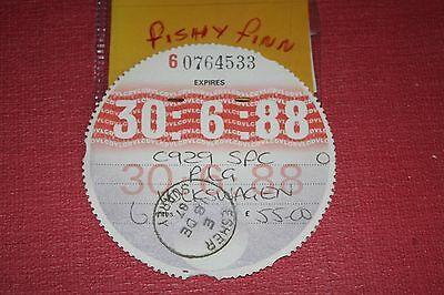 tax disc/collectable/expired road tax/road fund 1988 ~~~@~~~