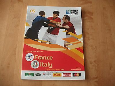 2015 RUGBY WORLD CUP FRANCE v ITALY PROGRAMME VGC # FREE POST