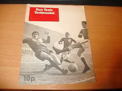 1974 RON YEATS TESTIMONIAL LIVERPOOL v CELTIC